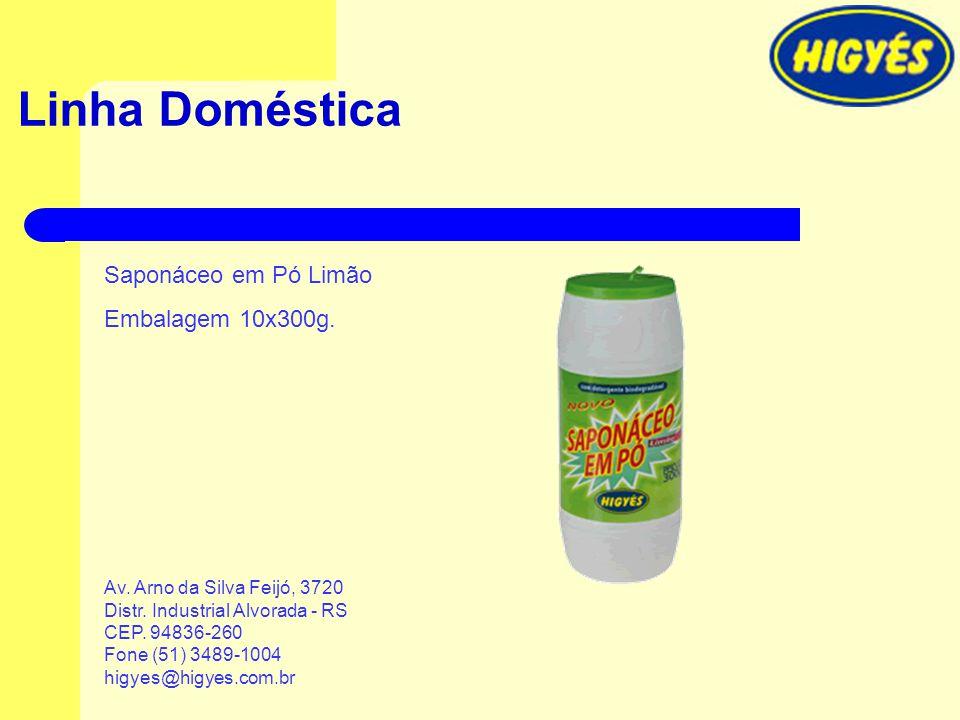Linha Doméstica Saponáceo em Pó Limão Embalagem 10x300g.