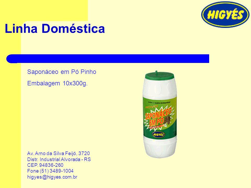 Linha Doméstica Saponáceo em Pó Pinho Embalagem 10x300g.