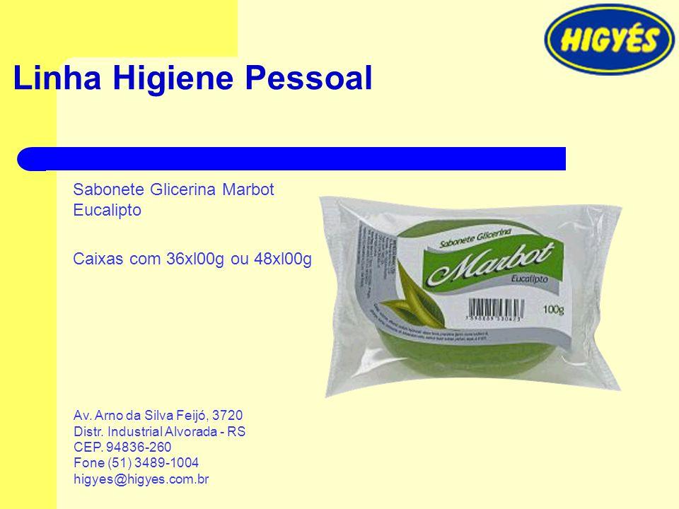 Linha Higiene Pessoal Sabonete Glicerina Marbot Eucalipto