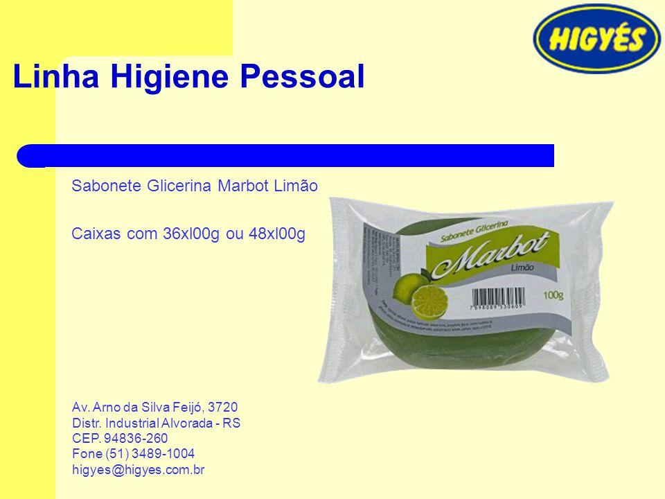 Linha Higiene Pessoal Sabonete Glicerina Marbot Limão