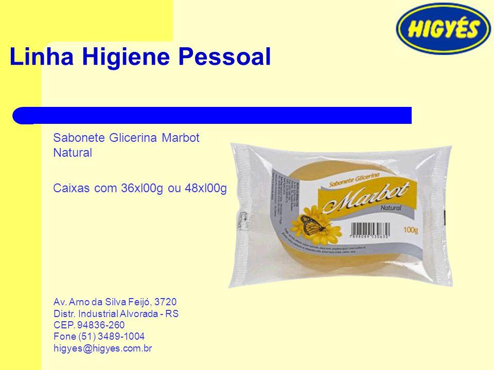 Linha Higiene Pessoal Sabonete Glicerina Marbot Natural