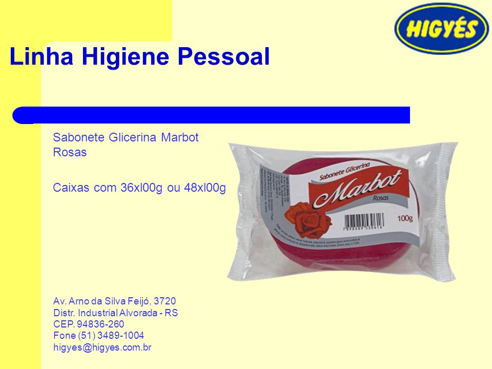 Linha Higiene Pessoal Sabonete Glicerina Marbot Rosas