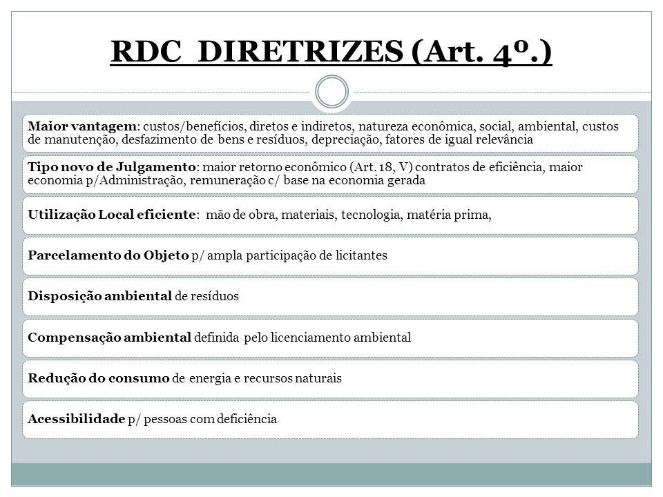 RDC DIRETRIZES (Art. 4º.)