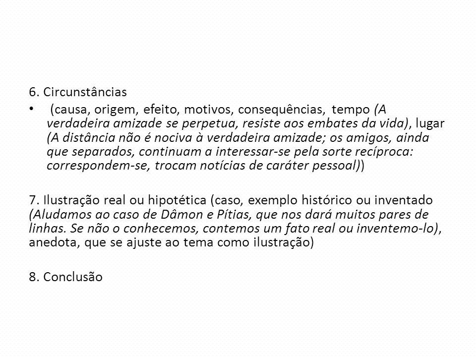 6. Circunstâncias