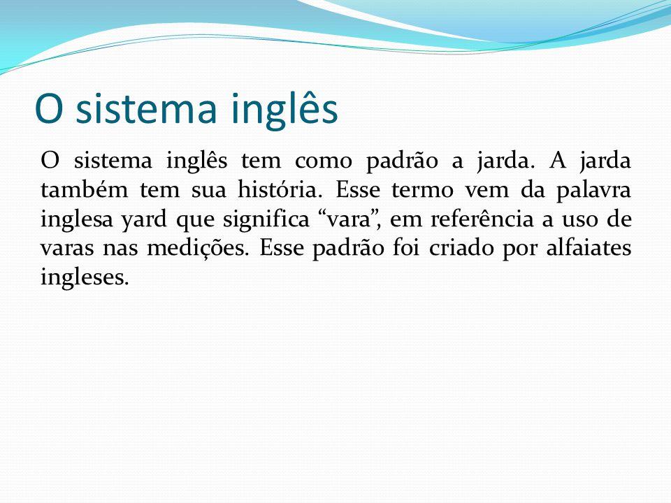 O sistema inglês