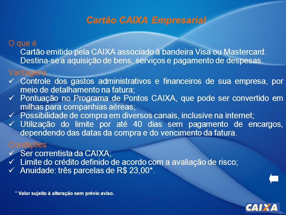 Cartão CAIXA Empresarial