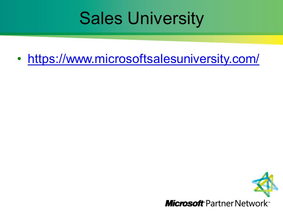 Sales University https://www.microsoftsalesuniversity.com/
