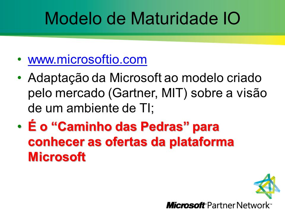 Modelo de Maturidade IO