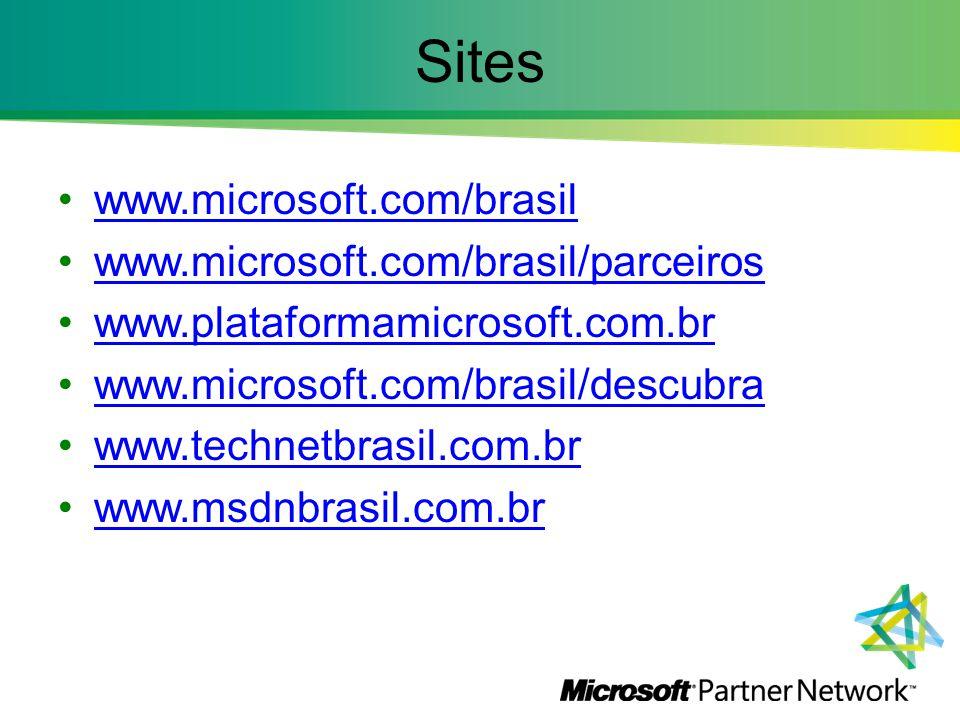 Sites www.microsoft.com/brasil www.microsoft.com/brasil/parceiros