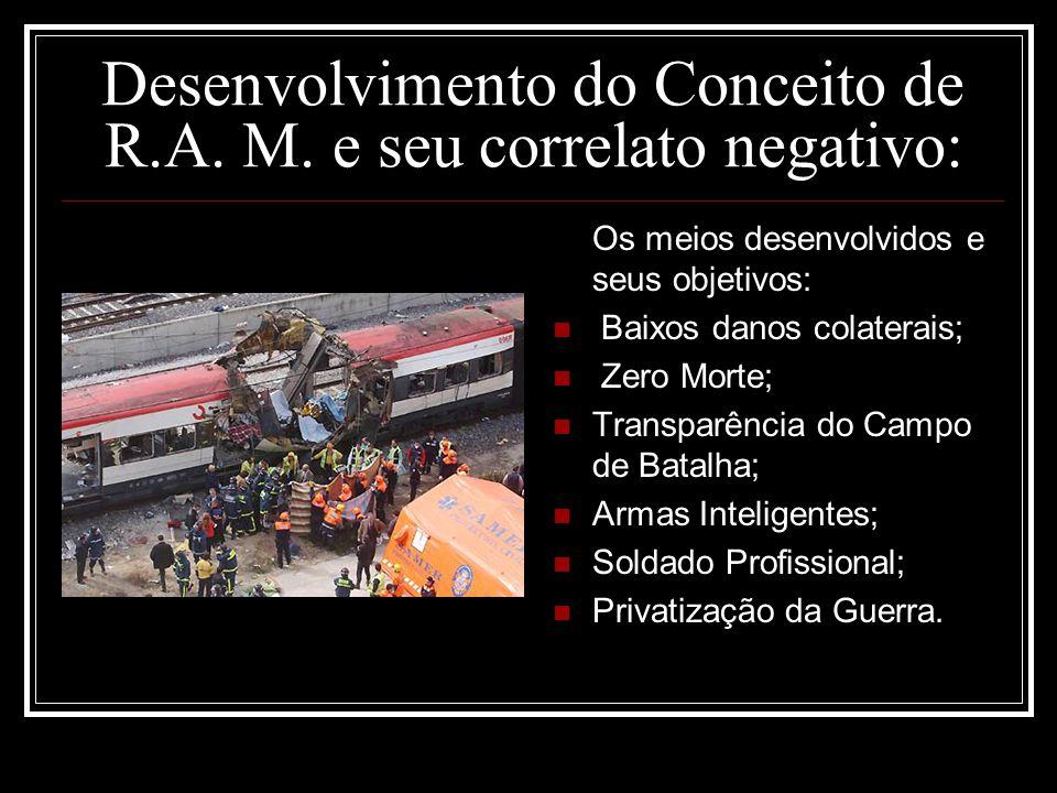 Desenvolvimento do Conceito de R.A. M. e seu correlato negativo: