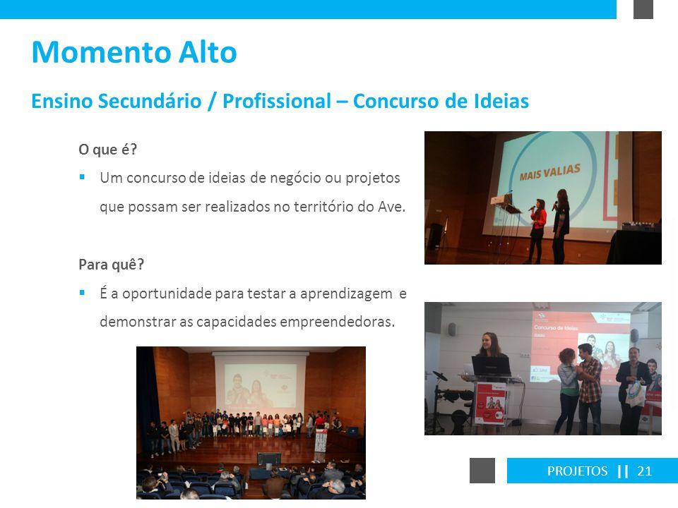 Momento Alto Ensino Secundário / Profissional – Concurso de Ideias