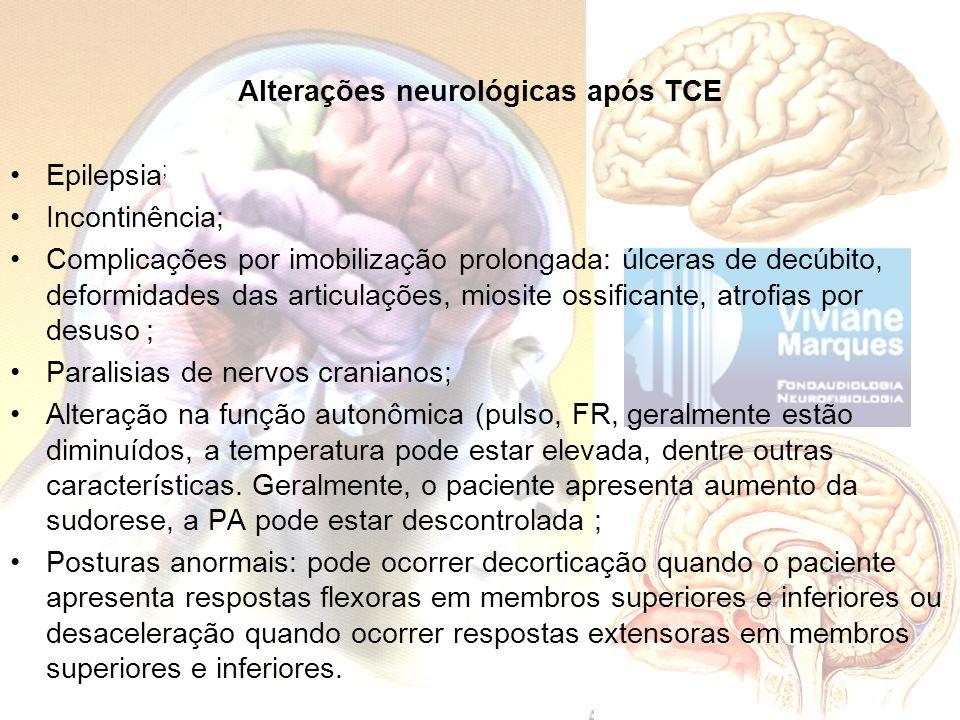 Alterações neurológicas após TCE