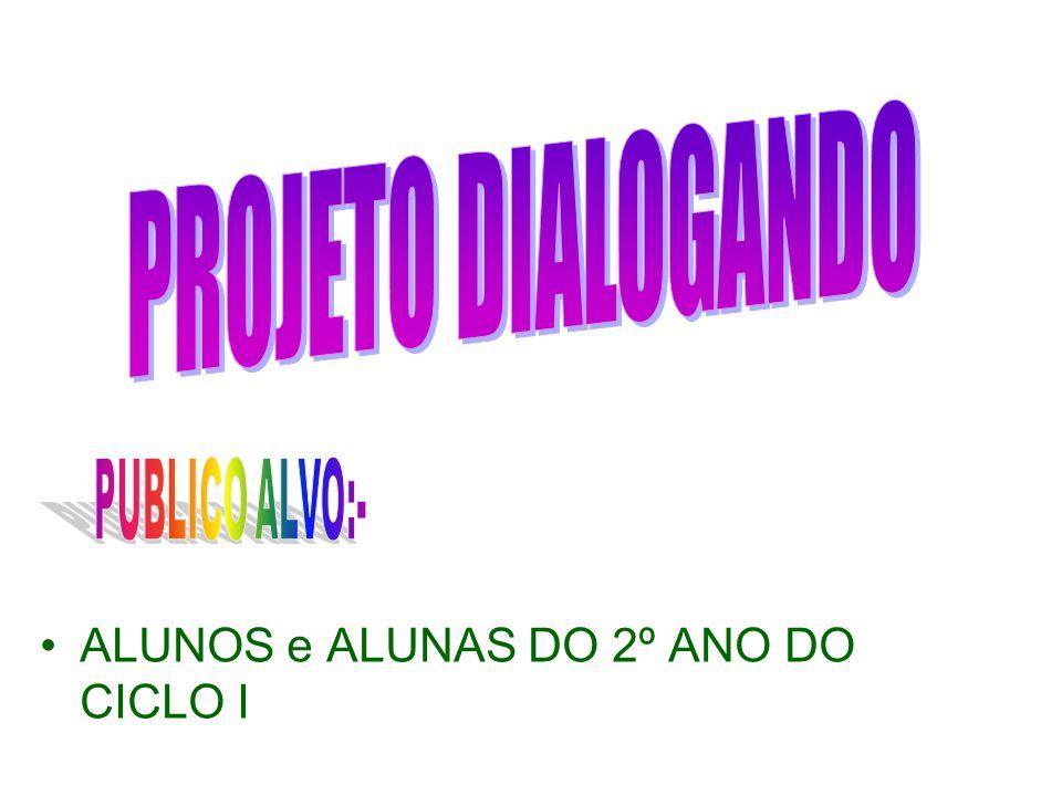 PROJETO DIALOGANDO ALUNOS e ALUNAS DO 2º ANO DO CICLO I PUBLICO ALVO:-