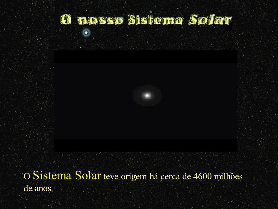 O Sistema Solar teve origem há cerca de 4600 milhões de anos.