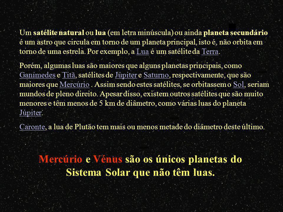 Um satélite natural ou lua (em letra minúscula) ou ainda planeta secundário é um astro que circula em torno de um planeta principal, isto é, não orbita em torno de uma estrela. Por exemplo, a Lua é um satélite da Terra.