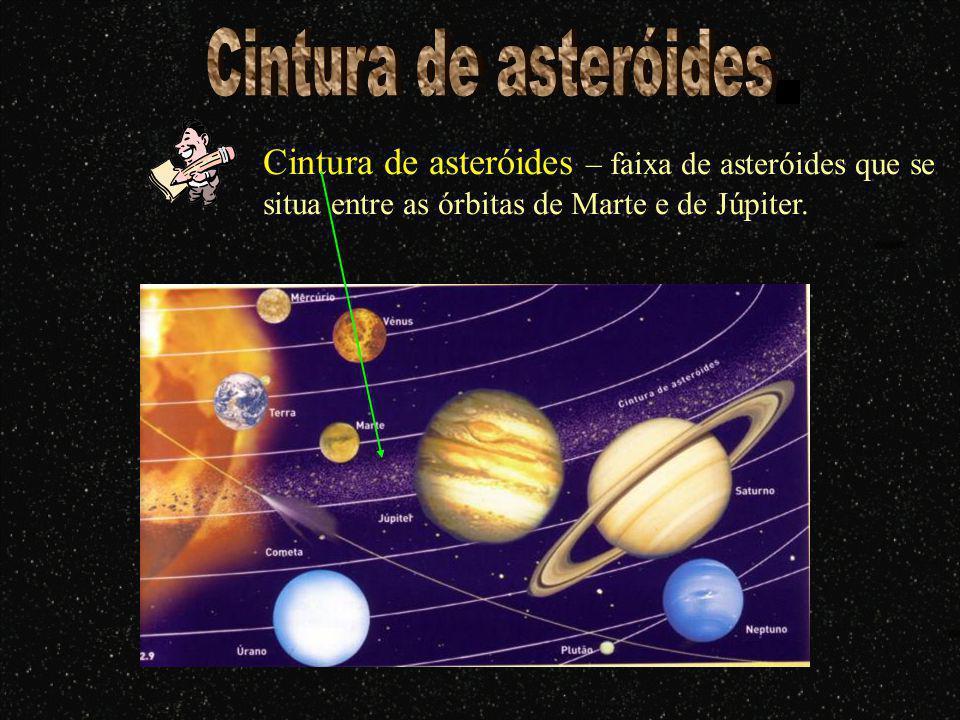 Cintura de asteróides Cintura de asteróides – faixa de asteróides que se situa entre as órbitas de Marte e de Júpiter.