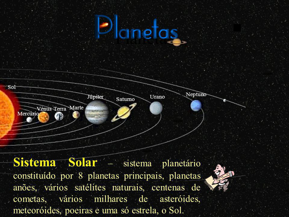 Planetas Sol. Neptuno. Júpiter. Urano. Saturno. Vénus. Terra. Marte. Mercúrio.