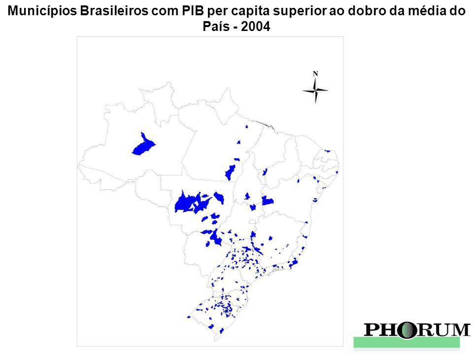 Municípios Brasileiros com PIB per capita superior ao dobro da média do País - 2004