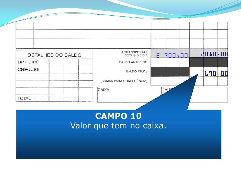 2 700,00 2010,00 690,00 CAMPO 10 Valor que tem no caixa.