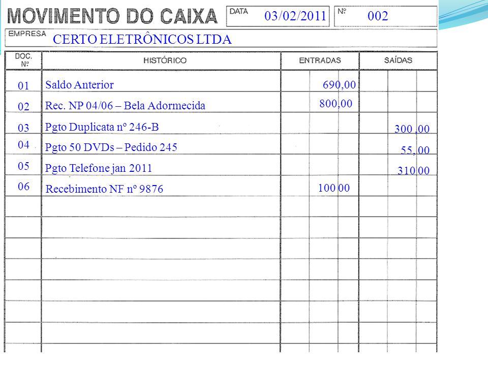 CERTO ELETRÔNICOS LTDA 002 03/02/2011