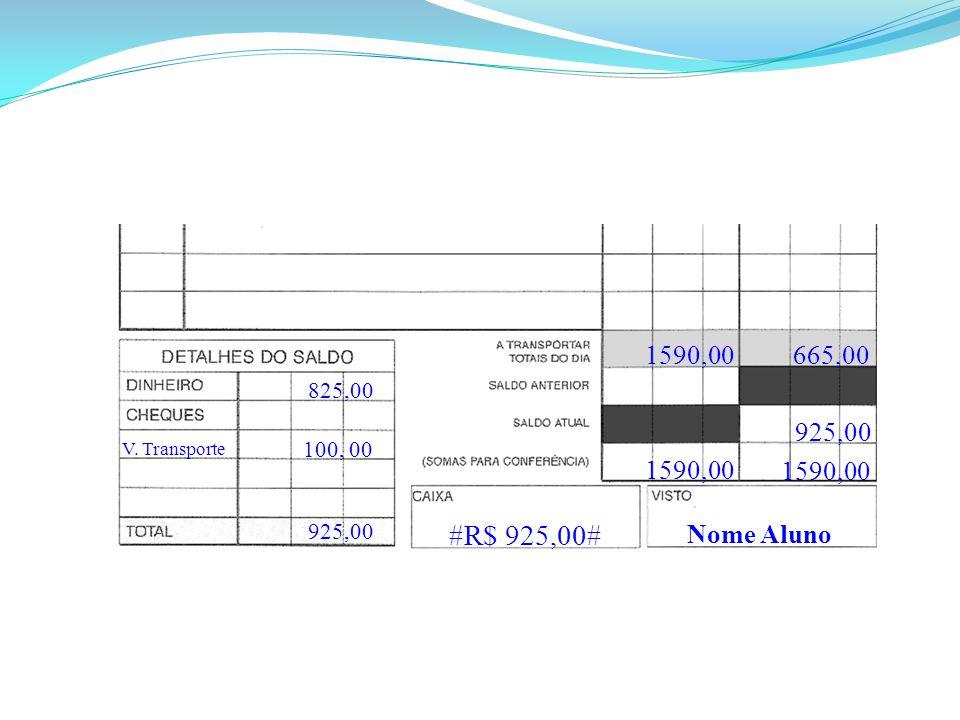 Nome Aluno #R$ 925,00# 1590,00 925,00 825,00 665,00 V. Transporte 100, 00