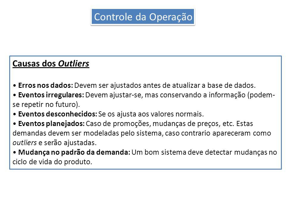 Controle da Operação Causas dos Outliers