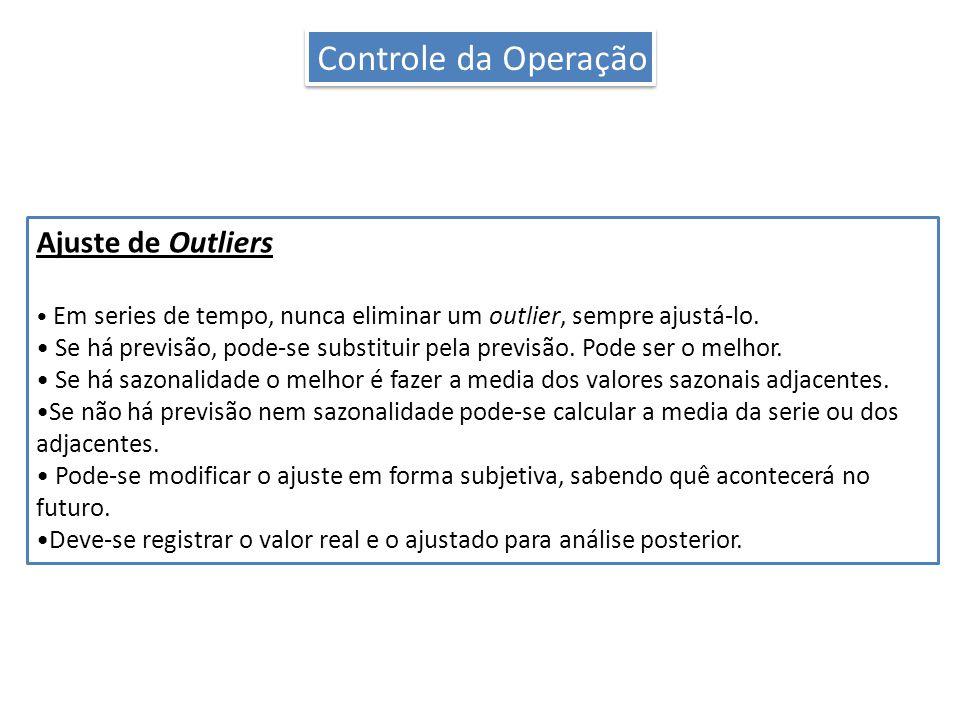 Controle da Operação Ajuste de Outliers