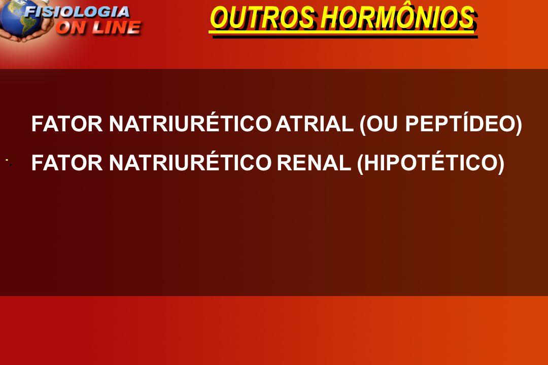OUTROS HORMÔNIOS FATOR NATRIURÉTICO ATRIAL (OU PEPTÍDEO)