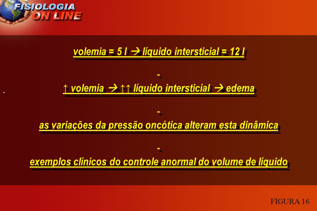 volemia = 5 l  líquido intersticial = 12 l