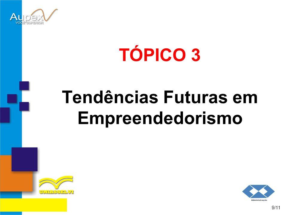 TÓPICO 3 Tendências Futuras em Empreendedorismo