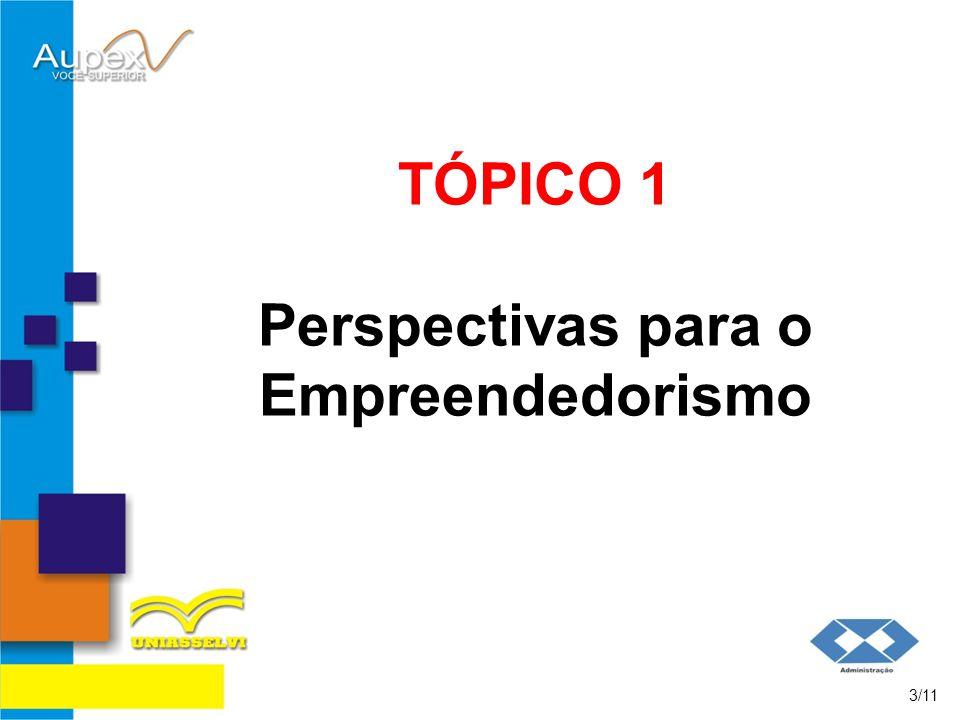 TÓPICO 1 Perspectivas para o Empreendedorismo