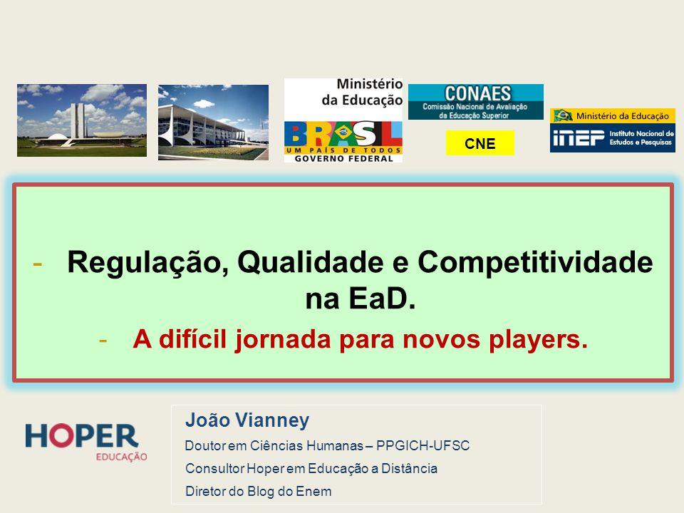 Regulação, Qualidade e Competitividade na EaD.