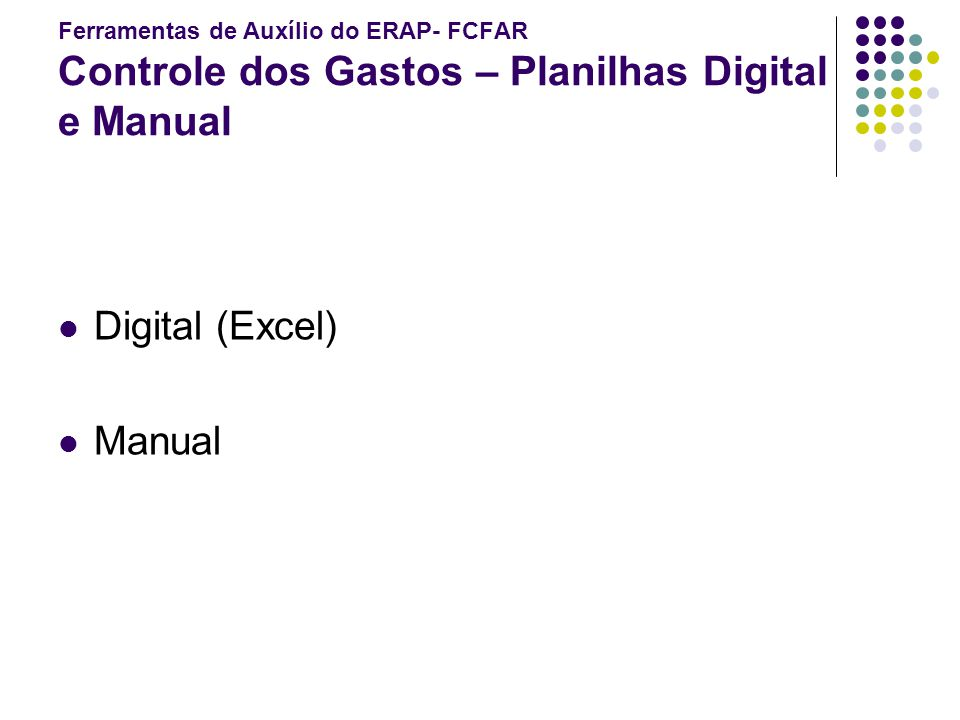 Digital (Excel) Manual