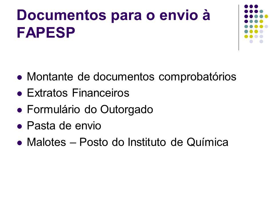 Documentos para o envio à FAPESP