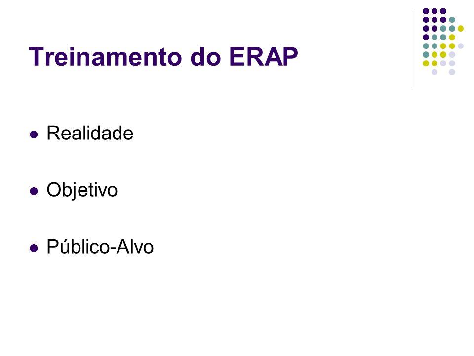Treinamento do ERAP Realidade Objetivo Público-Alvo