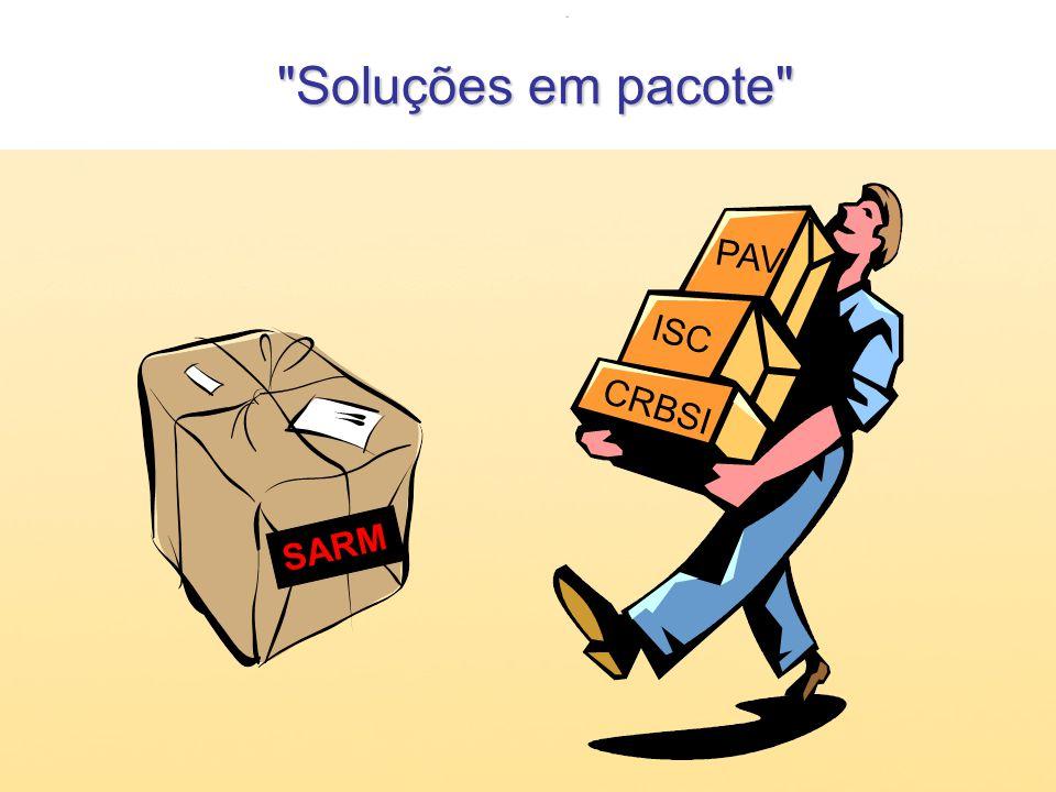 Soluções em pacote PAV ISC CRBSI SARM