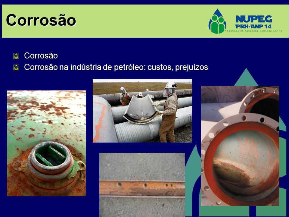 Corrosão Corrosão Corrosão na indústria de petróleo: custos, prejuízos