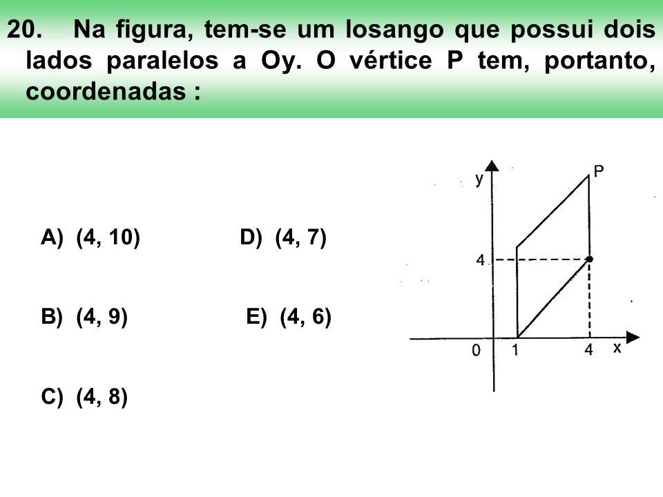 20. Na figura, tem-se um losango que possui dois lados paralelos a Oy