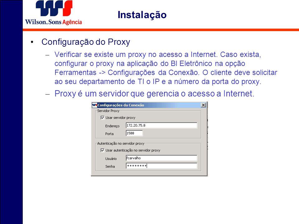 Instalação Configuração do Proxy