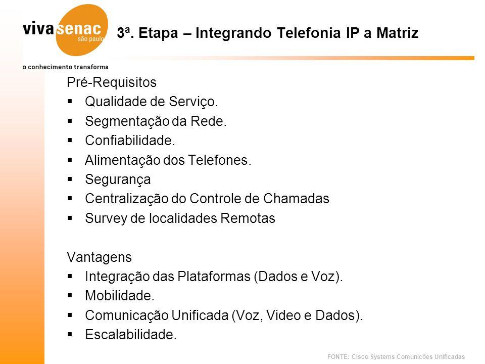 3ª. Etapa – Integrando Telefonia IP a Matriz