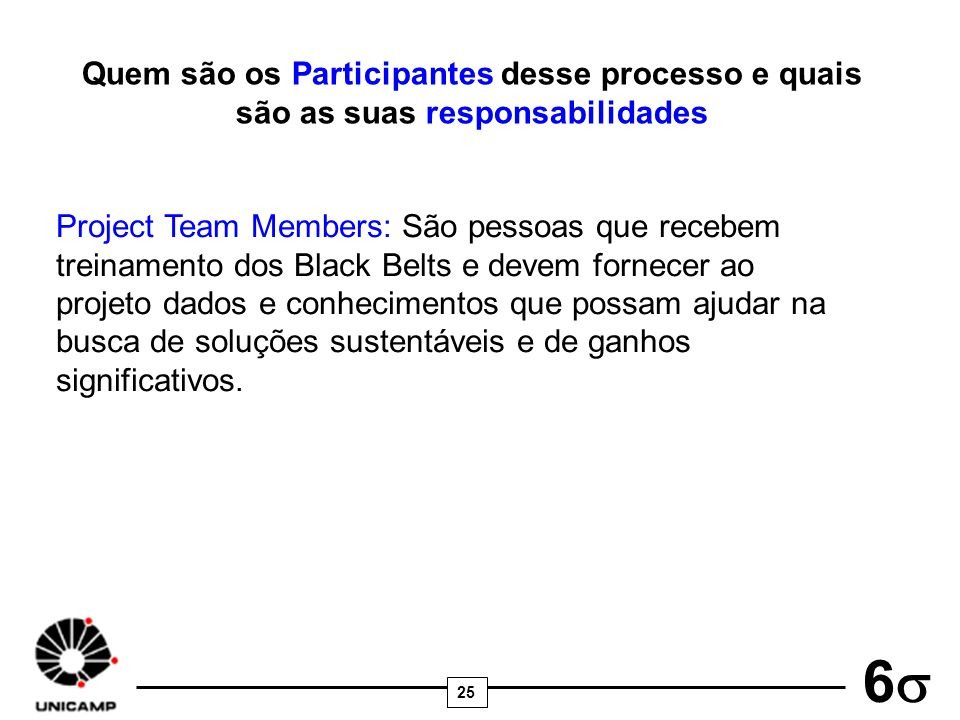 Quem são os Participantes desse processo e quais são as suas responsabilidades