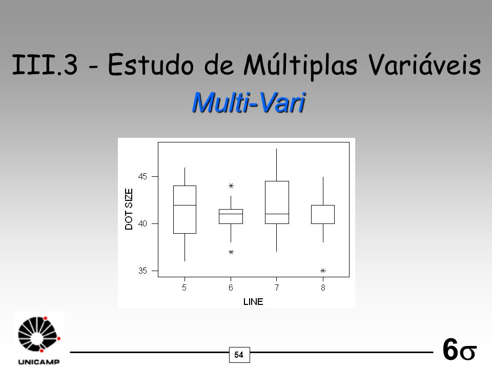 III.3 - Estudo de Múltiplas Variáveis