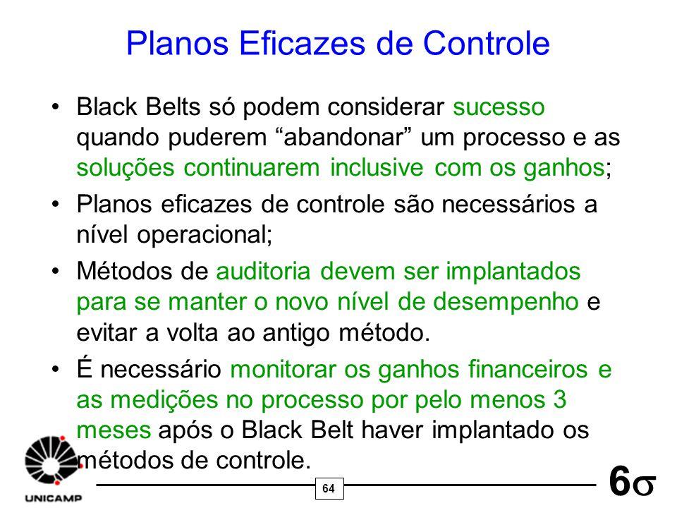 Planos Eficazes de Controle
