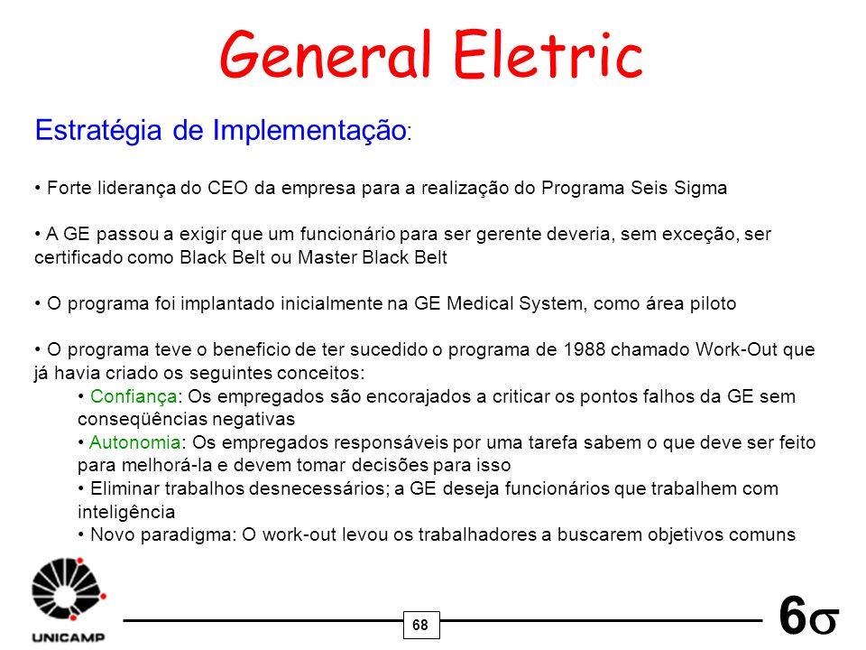 General Eletric Estratégia de Implementação: