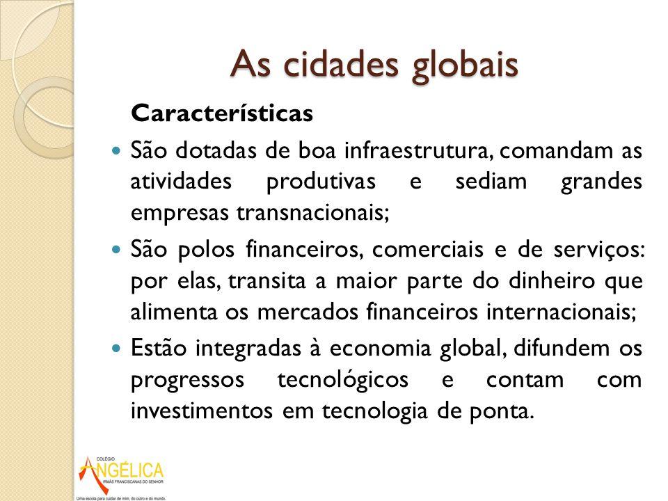 As cidades globais Características