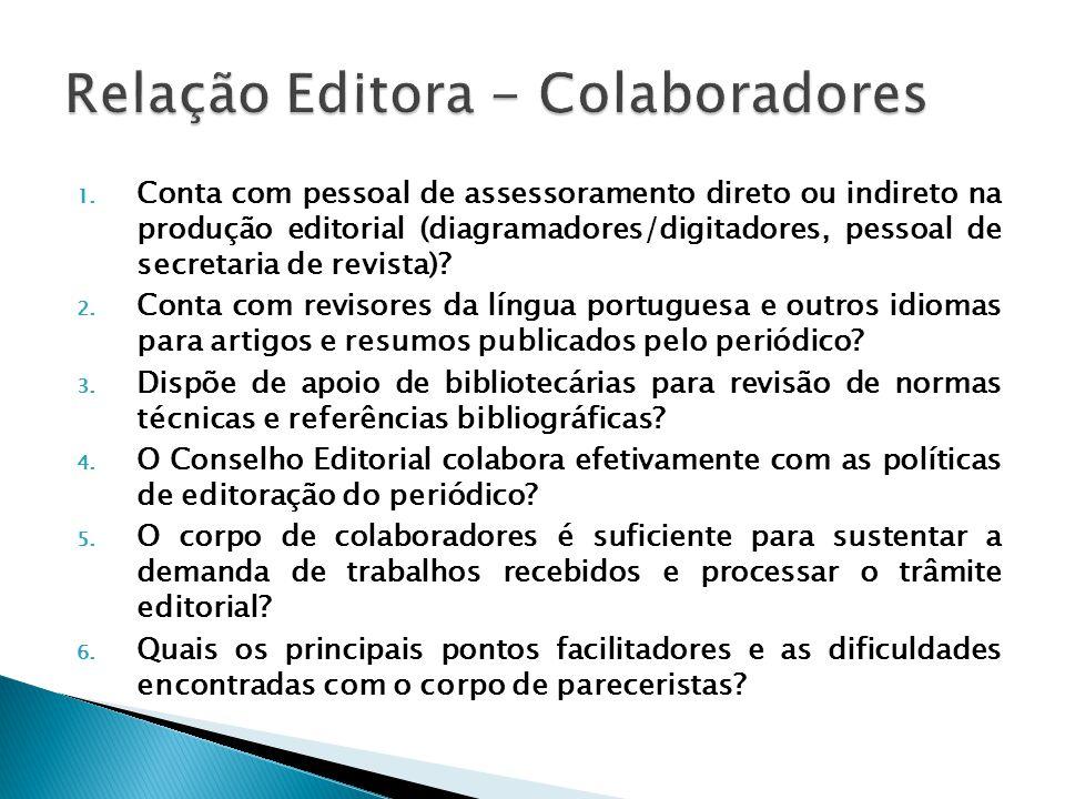 Relação Editora - Colaboradores