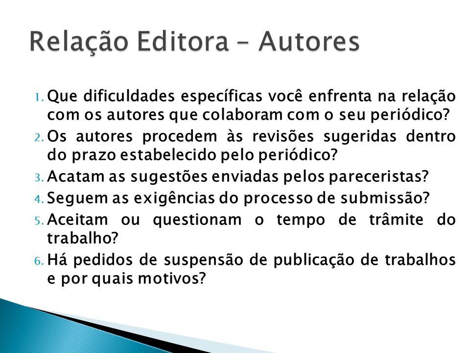 Relação Editora – Autores
