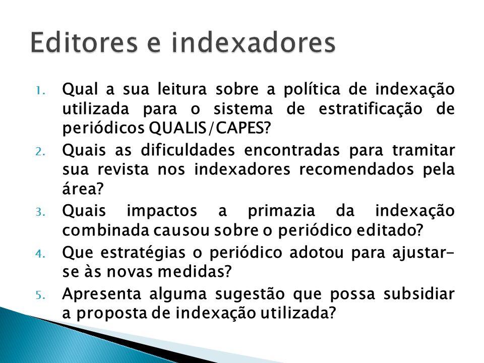 Editores e indexadores
