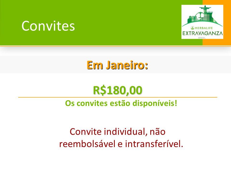 R$180,00 Os convites estão disponíveis!