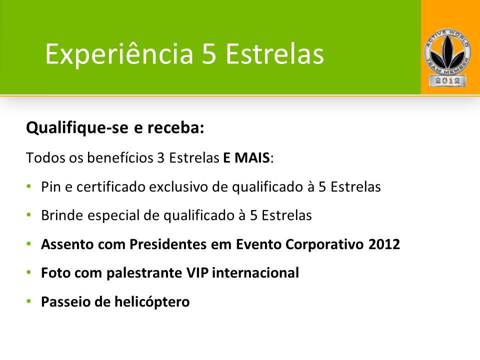 Experiência 5 Estrelas Qualifique-se e receba: